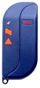 la télécommande Faac TML2-433-SLR qui a un boitier bleu et des boutons oranges