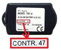 Télécommande : V2 TSC4