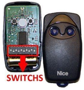 Telecommande de portail nice flo2 switchs for Telecommande garage nice